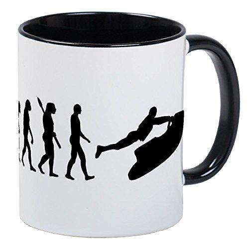 CafePress Evolution Jet Ski Mug Unique Coffee Mug, Coffee Cup (Jet Ski Mug)