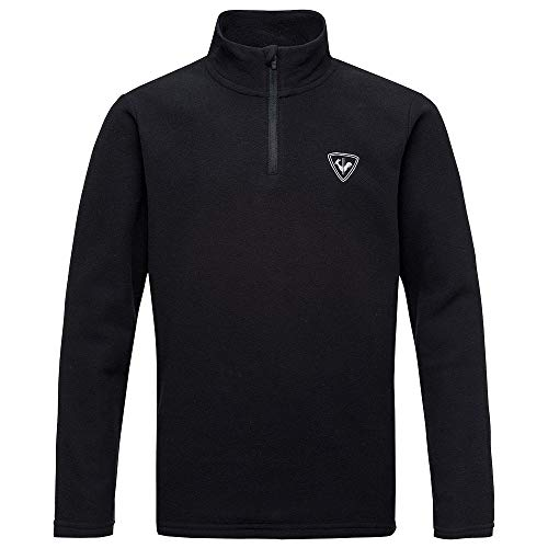 Mid Layer Ski - Rossignol Boy 1/2-Zip Fleece Mid-Layer Boys Black