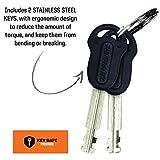 Kryptonite Keeper Standard 12mm U-Lock Bicycle Lock with FlexFrame-U Bracket & KryptoFlex 410 10mm Looped Bike Security Cable