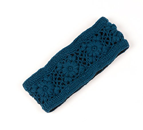 Nirvanna Designs HB08 Crochet Multi Headband with Fleece, Teal