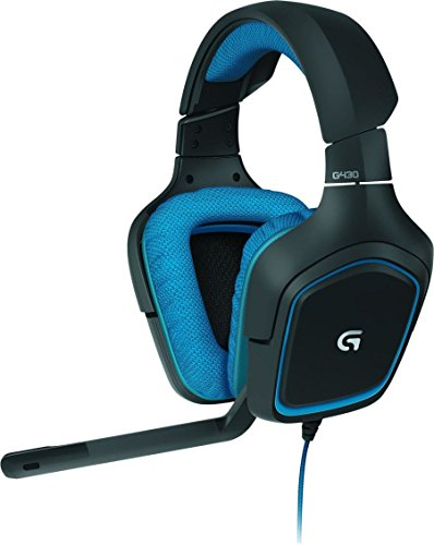Logitech G430 Gaming Headset for PC Gaming with 7.1 Dolby Surround,...