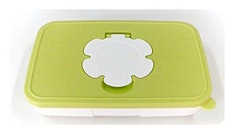 TUPPERWARE niños del bebé Feuchttuecherbox Toallitas húmedas Caja pequeño plano Pañal Pampers - Green: Amazon.es: Hogar
