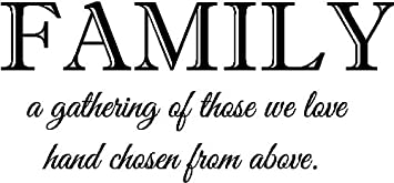 Amazoncom Sticker Perfect Family A Gathering Of Those We Love Hand