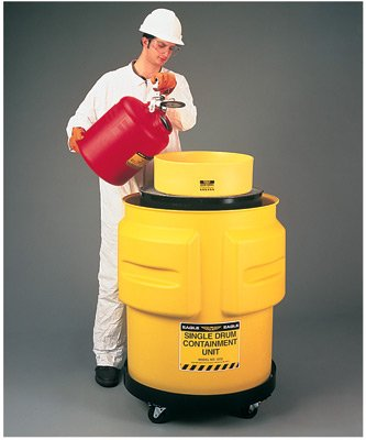 Eagle 1612 31'' X 33'' Yellow Polyethylene 1-Drum Spill Control Containment Unit With 65 Gallon Spill Capacity Without Drain (1/EA)