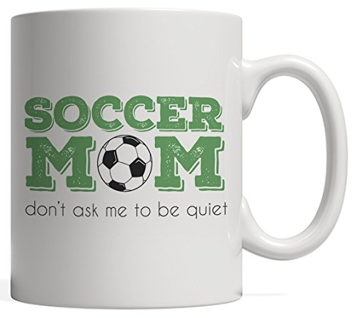 USA Soccer Mug - Funny Women Football Gift For Soccer Mom Who Can't Keep Calm or Be Quiet Because Her Heart On That Field Always Cheering For Her Son or Daughter Player by Unknown