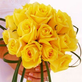 Amazoncom Classic Yellow Rose Wedding Bouquet Flowers Garden