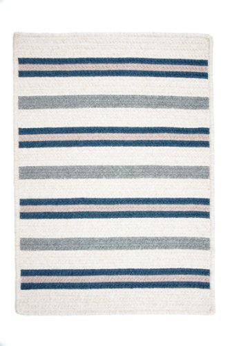 (Colonial Mills Allure Runner 2' x 10' Braided Modern Area Rug In Blue Stripes)