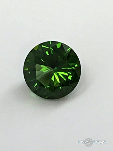 Chrome Diopside #M450. Round 6mm. 0,84 Ct. Monosital created loose gemstone. US@GEMS (Round Diopside)