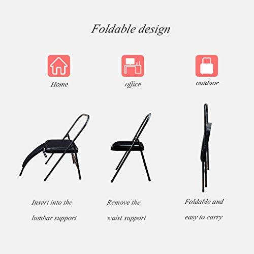 Sports Fitness Yoga Chair Folding Chair Fitness Chair Stool Home Folding Aids Bold Stool Iyengar Folding Chair Outdoor Fishing Chair (Load Weight: 150kg) Exercise Ball Chairs by PHSP (Image #4)