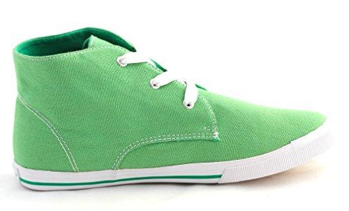 Idana Damen Halbschuhe Sneaker Canvas 832 416 - grün