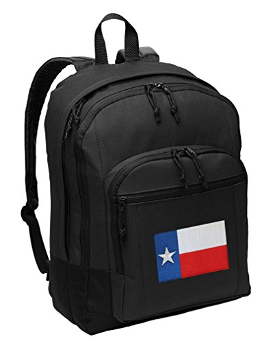 Texas Backpack CLASSIC Style Texas Flag Backpack Laptop Sleeve (Classic Texas Flag)