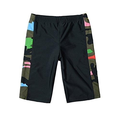 Duoxibeier Swim Trunks for Boys 8-20 Elastic Jammer Kids Nylon Swim Shorts Beach Bathing Suit 8-10 Years Camouflage - Swim Trunks Nylon