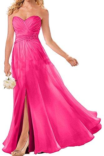 Rock Promkleider La Linie mit Festlichkleider Wassermelon Herrlich Spitze A Pink Lang Chiffon Ballkleider Braut mia Abendkleider x0wC0TFq7f