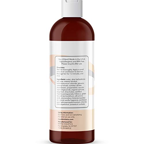 Natural Conditioner Keratin Hair Treatment - Color Safe Hair Conditioner with Argan Oil Shea Butter Jojoba Oil and Aloe Vera - Carrier Oil Based Dry Scalp Treatment for Hair Repair and Frizz Control