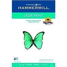 Hammermill Paper, Laser Print, 32lb, 11 x 17, Ledger, 98 Bright, 500 Sheets / 1 Ream (104653)