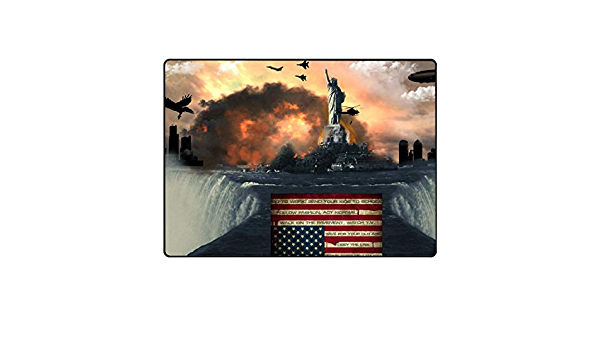 BIRSY Mats Outdoor Patio,Statue of Liberty American Flag ...