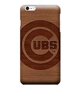 iPhone 6 Plus Case, MLB - Chicago Cubs Engraved - iPhone 6 Plus Case - High Quality PC Case