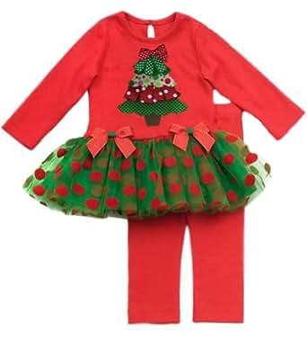 Rare Editions Christmas Tree Tutu & Leggings Set (6 months)
