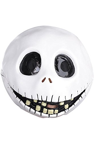 Disguise Men's The Nightmare Before Christmas Jack Skellington Mask, One Size -