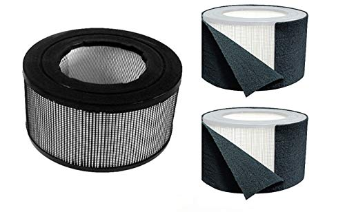 Honeywell Replacement Filter Kit 17000-S - 20500 True HEPA Filter + Exact Fit Pre Cut Carbon Pre Filters (1 HEPA Filter + 2 Carbon Wraps)
