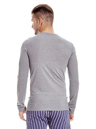 nbsp;t À Homme Col shirt Et Rond Xxl Termaltech Abanderado Gris Technologie Longues Pour Manches EwdPRqC