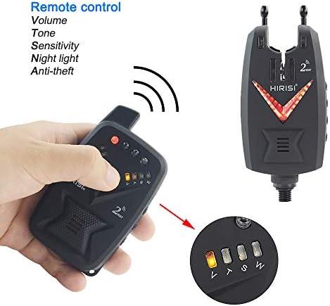Hirisi Tackle 3/X Standard P/êche alarmes Bite indicateurs avec Volume r/églable Tone sensibilit/é