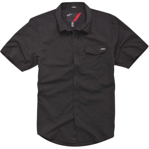 Alpinestars Bloc Out Woven Men's Short-Sleeve Fashion T-Shirt/Tee - Black / Large