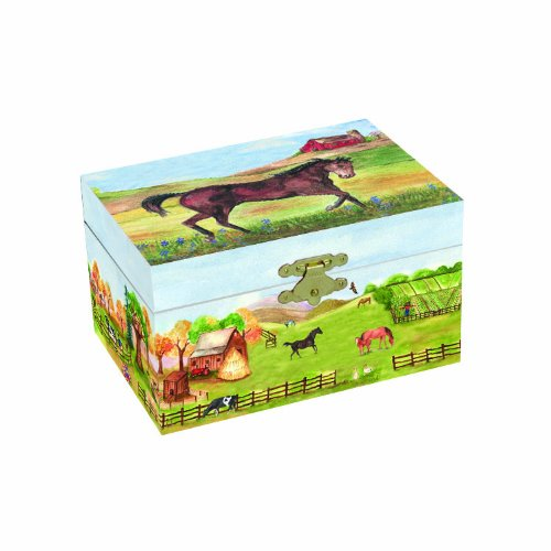 Music Chest Toy Box (Enchantmints Country Horse Music Jewlery Box)