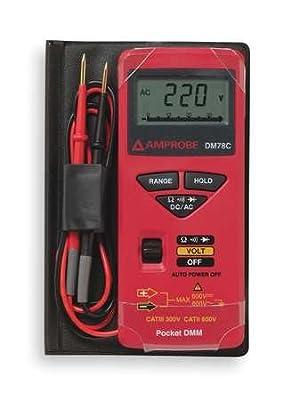 Pocket Digital Multimeter, 600V, 34 MOhms