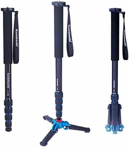 Koolehaoda 6-section compact portable photography aluminum monopod K-266 blue