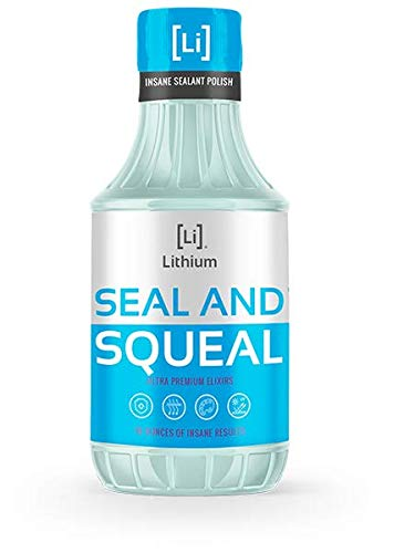 Lithium Seal and Squeal Paint Sealant/Polish - Incredible Shine and Lasting Protection - Curable Amino Functional Polymers Fused with Si02 Ceramic Nano Technology -Lasts for up to 12 Months (16 oz)
