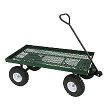 Millside Industries Farm Tuff 20X38WFF Single Tier Metal Deck Wagon, 20 by 8-Inch, Green