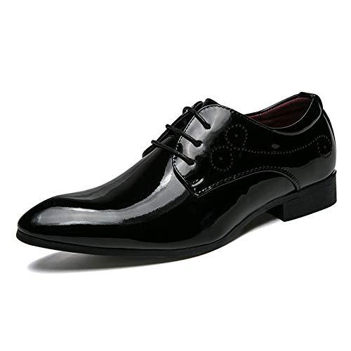 Noir LOVDRAM Chaussures Hommes. Chaussures De Ville. Chaussures en Cuir Verni. Chaussures De Mariage.