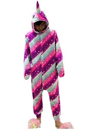 XVOVX Adults and Children Animal Narwhal Unicorn Cosplay Costume Pajamas Onesies Sleepwear]()