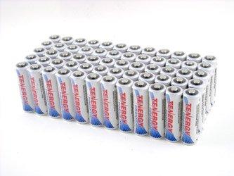 60pcs of Tenergy Premium AA 2500mAh High Capacity NiMH Rechargeable Batteries by Tenergy