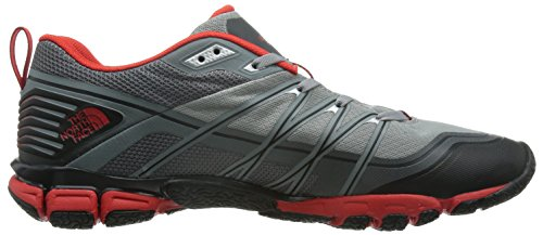 The North Face M Litewave Ampere, Zapatillas de Deporte Exterior para Hombre Gris (Monument Grey / Fiery Red)