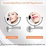 Pansonite LED Wall Mount Makeup Mirror with 10x