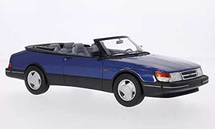 Saab 900 S Convertible, metallic-blue, 1987, Model Car, Ready-