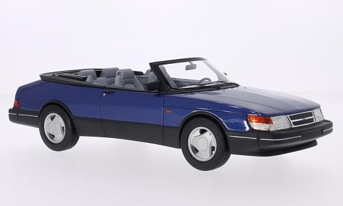 Saab 900 S Convertible, metallic-blue, 1987, Model Car, Ready-made, BoS-Models 1:18 ()