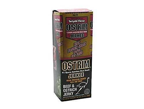 Ostrim High Protein Snack, Beef & Ostrich, Pepper Jerkee, 1.05 oz., 10 Count by - Pepper Jerkee Ostrim