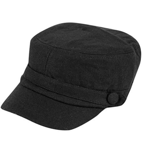 Super Soft Cashmere Feel Classic Cadet Army Cap Hat (Solid Black)
