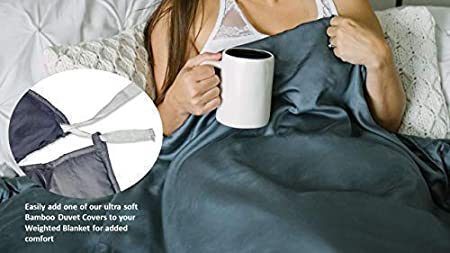 This Item is for The Cover only - Does not Included a Weighted Blanket HomeSmart Products Duvet Cover for Weighted Blanket 60x80 Premium 100/% Organic Ultra Soft Cotton Fits 60x80 Blanket