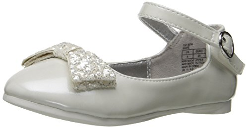 Kenneth Cole REACTION Girls' Tap Bow Mary Jane, White, 9 M US Toddler