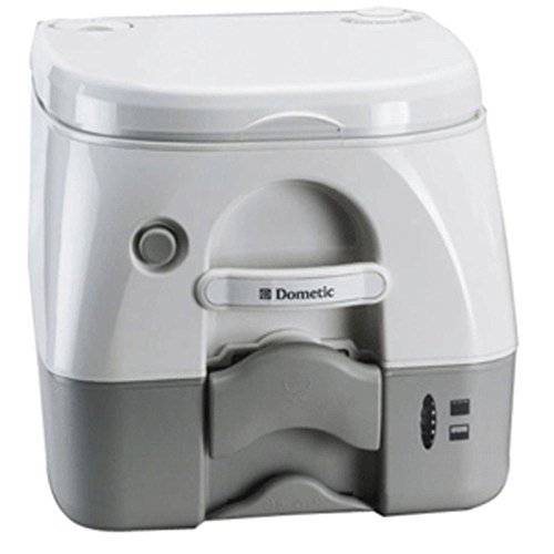 Dometic - SeaLand 974MSD Portable Toilet 2.6 Gallon - Grey w/Brackets consumer electronics (974msd Portable Toilet)
