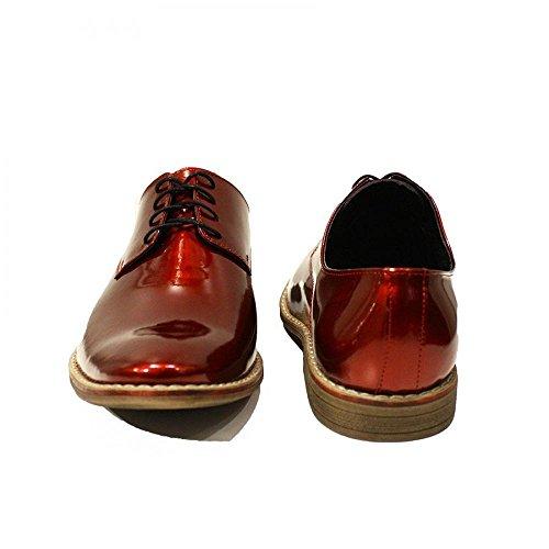 Modello Mazara del Vallo - Handmade Colorful italiennes Chaussures en cuir Oxfords Casual Souliers de Formal Prime Unique Vintage Gift Lace Up Robe Hommes