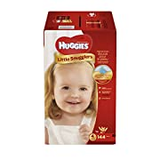 HUGGIES Little Snugglers Baby Diapers, Size 4, for 22-37 lbs., One Month Supply (144 Count), Packaging May Vary