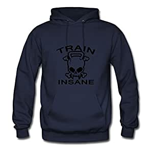 Sarahdiaz Navy Personalized Speacial Lovely Train Insane Hoody/women X-large