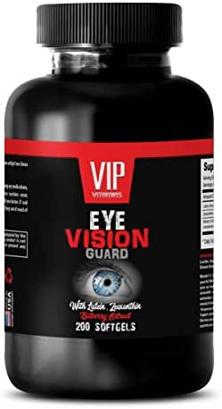 antioxidant for Eye Health - Eye Vision Guard - with Lutein, ZEAXANTHIN and Bilberry Extract - Lutein - 1 Bottle 200 Softgels