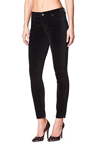 Jeans Velvet Pants (Nicole Miller New York Tribeca Mid-Rise Black Stretch Velvet Skinny Jeggings)