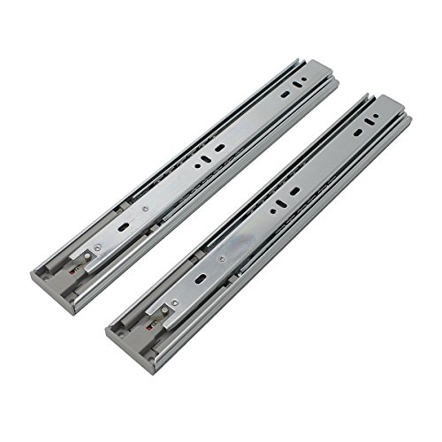 5 Pair x Probrico 12'' Push to Open Side Mount 100 LB Capacity Full Extension Ball Bearing 3 Fold Drawer Slides by Probrico (Image #2)
